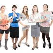 Stok fotoğraf: Group of business women