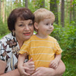Grandmother with her grandchild - Stock Photo