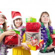 Girls with christmas gifts — Stock Photo #2155231