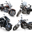 Stock Photo: Set of large motorcycles