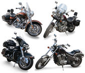 Set of large motorcycles — Stock Photo