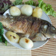 Royalty-Free Stock Photo: Grilled Carp fish