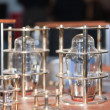 Vacuum lamps on tube amplifier — Stock Photo