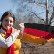 Girl with germany flag — Stock Photo