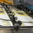 Newspapers at offset printed machine — Stockfoto