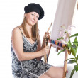 Stock Photo: Young female painter