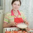 Cooking girl — Stock Photo