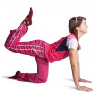 Stock Photo: Girl in pink activewear