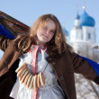 Stock Photo: Girl in russitraditional