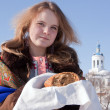 Russian hospitality — Stock Photo