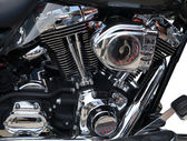 Motorcycle engine close-up — Stock Photo
