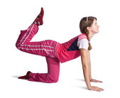 Girl in pink activewear — Stock Photo