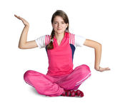 Young girl practicing yoga — Stock Photo