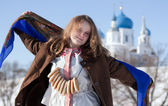 Girl in russian traditional — Stock Photo