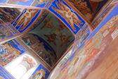 Frescos in russian orthodox church — Stock Photo