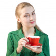 Royalty-Free Stock Photo: Girl with red cup