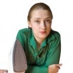 Ironing girl — Stock Photo #2209264