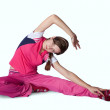 Stock Photo: Girl doing aerobics