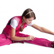 Stock Photo: Sporty girl doing aerobics