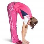 Girl doing fitness exercises — Stock Photo