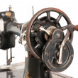 Antique sewing machine close-up - Stock Photo