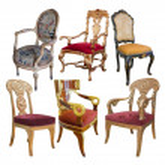 pár historických židle — Stock fotografie