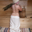 Girl in sauna — Stock Photo #2694049