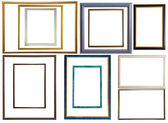 Modern thin plastic picture frames — Stock Photo