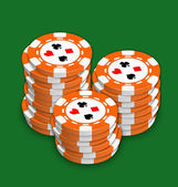 Chips for playing a poker and roulette — Stock Photo