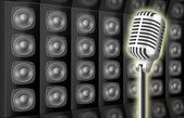 Background from voice loud speakers and — Stock Photo