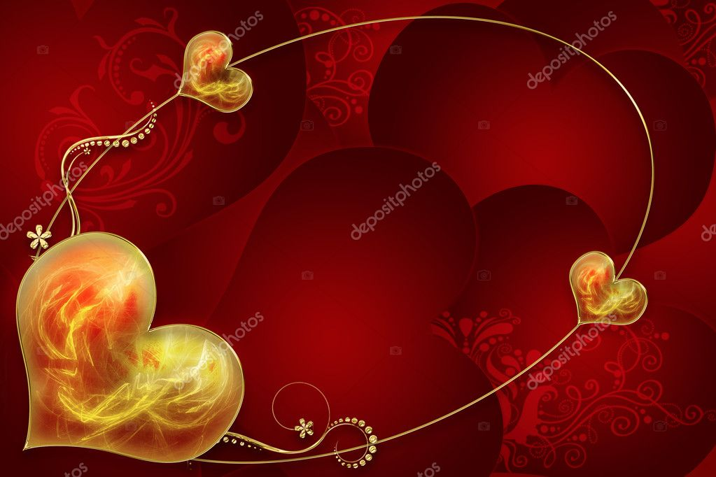 Illustration of background from hearts — Stock Photo #1131812