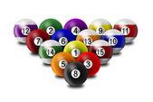 Billiard balls — Stock Photo