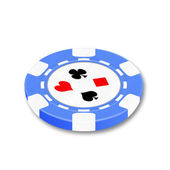 Chip for playing a poker and roulette — Stock Photo