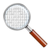 Magnifying glass with numbers — Stock Photo