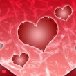Background from hearts — Stock Photo