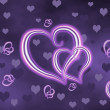 Background from neon hearts — Stock Photo