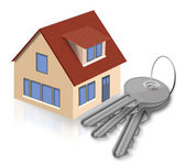 House and keys from a house — Stock Photo