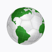 Planet in form soccer ball — Stock Photo