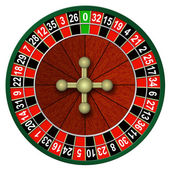 Illustration of roulette on a white background — Stock Photo