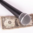 Microphone and dollar — Stock Photo #1710948