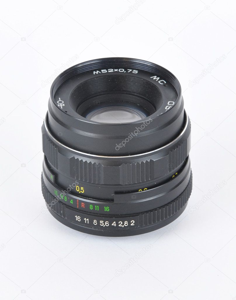Picture of old lens on a white background — Stock Photo #1935010