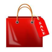 Bag with inscription sale — Stock Photo