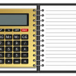 Notebook with a calculator - Stock Photo