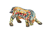 Colorful bull from a mosaic — Stock Photo