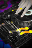 Original picture DJ of a player — Stock Photo