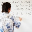 Teaching algebra — Stock Photo