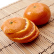 Orange on napkins — Stock Photo