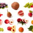 isolado de frutas e vegetal conjunto — Foto Stock