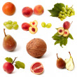Isolated fruit and vegetable set — Stock Photo