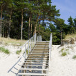 Stairway in the beach in summer — Stock Photo